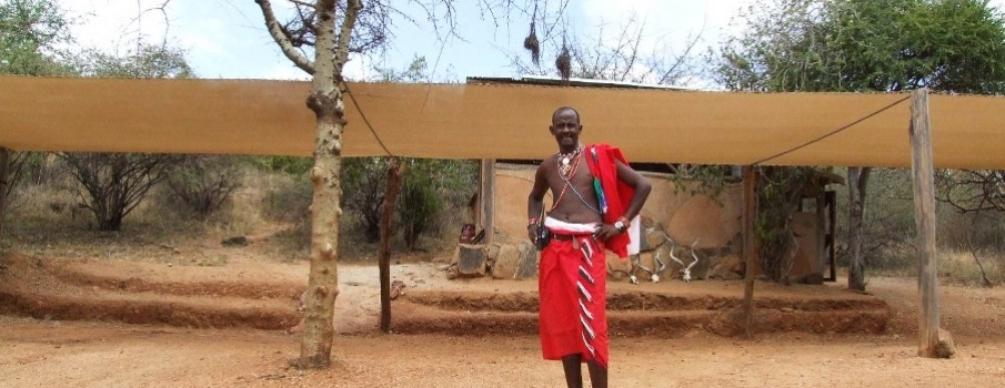 Maasai guy in the Lodge